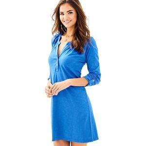 NWT Lilly Pulitzer Sleeved Essie Dress Bennet Blue